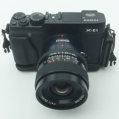 Fujifilm X-E1, Carl Zeiss Contax Makro-Planar 2,8/60 mit Adapter von Novoflex, RSS L-Winkel