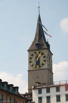 Turm der Sankt Peters Kirche, Zürich