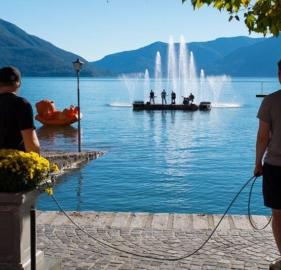 ZDF Fernsehgarten on Tour mit Andrea Kiewel. Bilder von der Aufzeichnung vom 25. September 2015 in Ascona, Tessin, Schweiz.