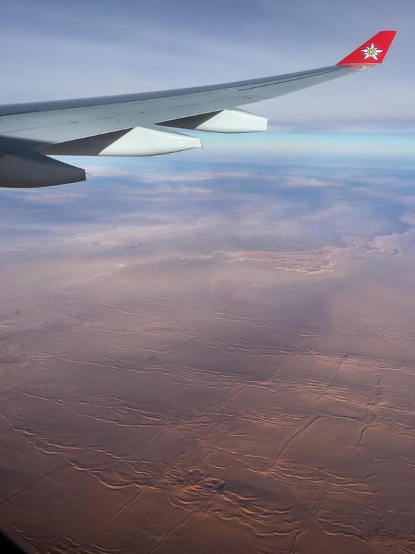 Irgendwo über Algerien und der Sahara. Von walwol