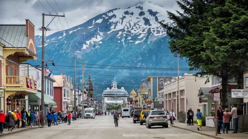 In Skagway, Alaska - im historischen District
