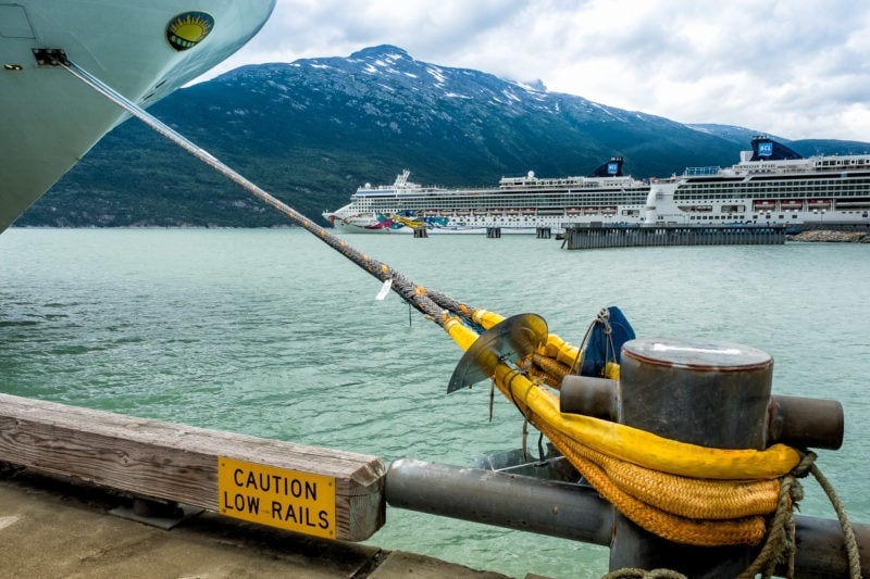 «Star Princess» vertäut in Skagway ,Alaska