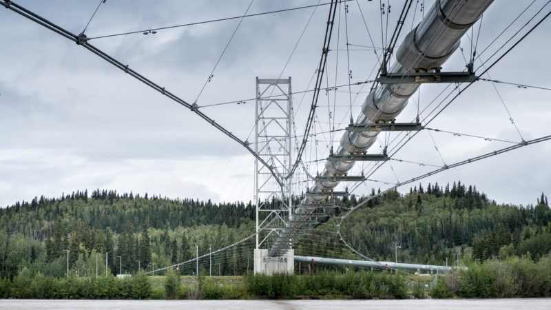 «Tanana River Bridge»: Überquerung des Delta Rivers bei Big Delta