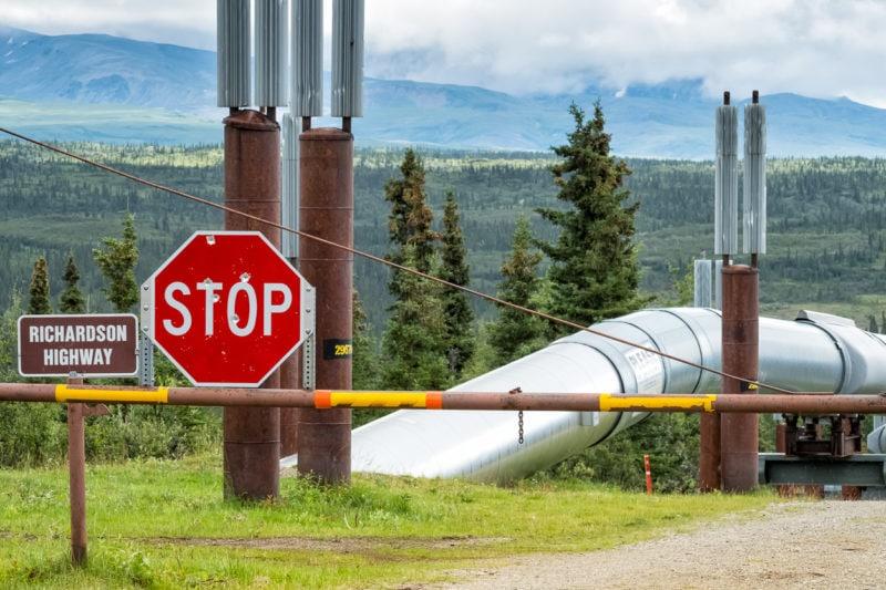 Trans-Alaska-Pipeline: Unterquerung des Richardson Highways