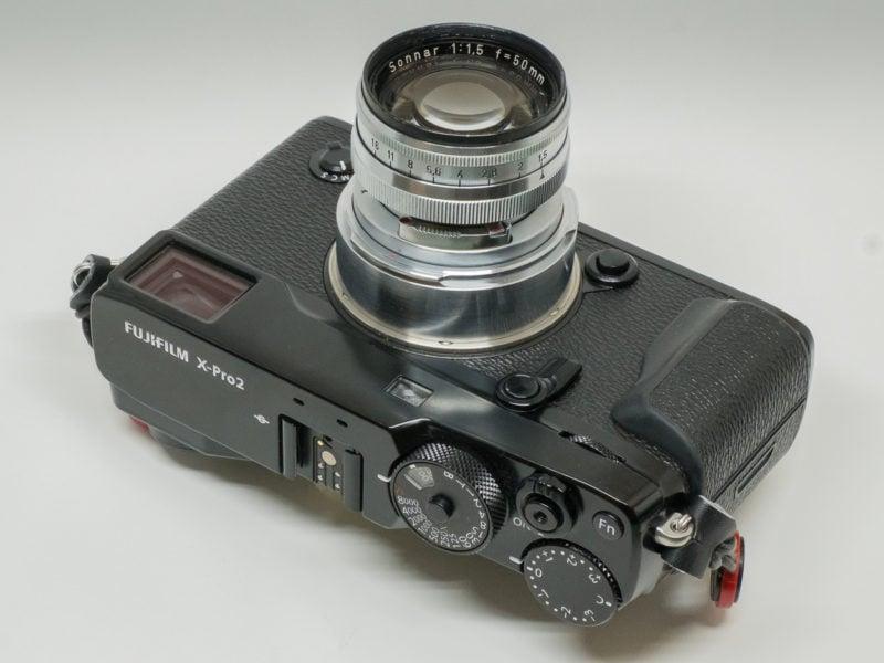 Fuji X-Pro2 mit adaptiertem Carl Zeiss Contax Sonnar 1.5/50.