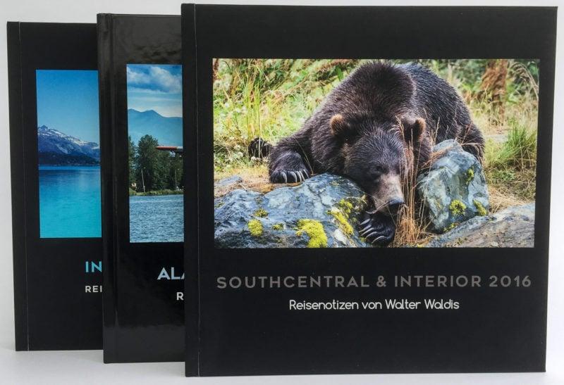 Meine dreibändige «Alaska-Trilogie» – 170 Doppelseiten – 450 Bilder.