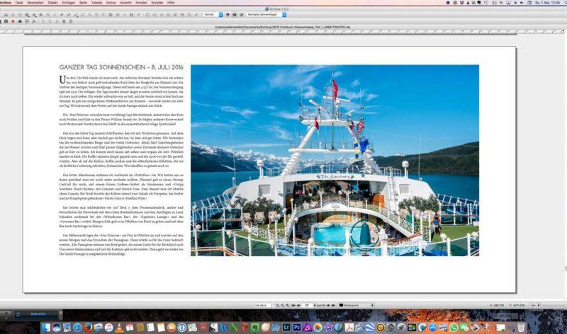 Screenshot einer fertigen Seite im Ansichtsmodus.