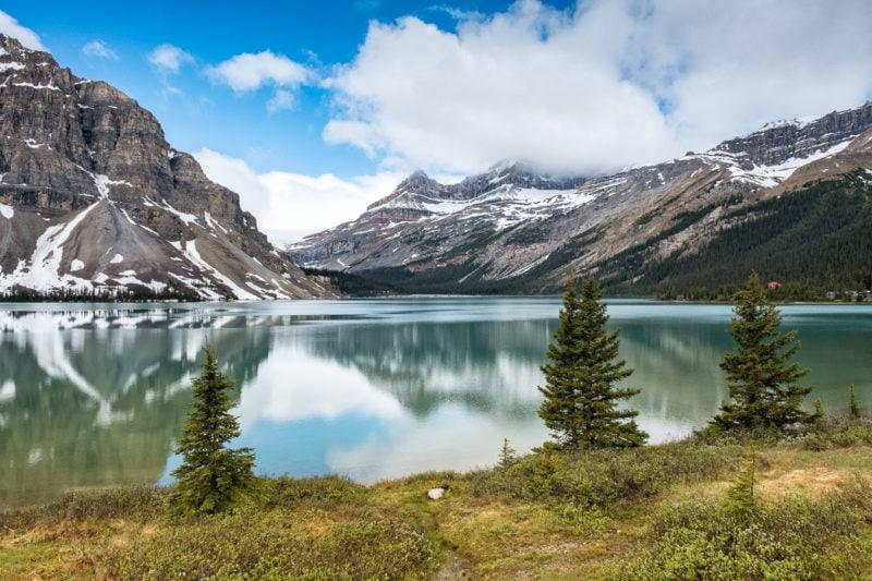 Am Bow Lake, Icefields Parkway, Alberta, Kanada
