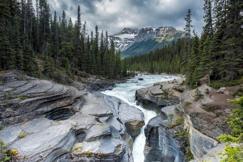 Am Mistaya Canyon, Icefields Parkway, Alberta, Kanada