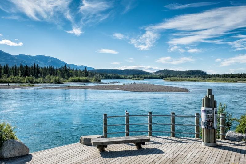 Yukon River bei Whitehorse, Yukon, Kanada