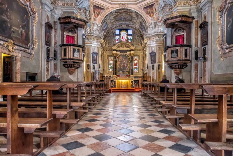 Cannobio, in der der Kirche «Santuario della SS. Pietà».