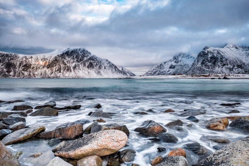 Bild des Jahres 2018: Winterwetter am Skagsanden Beach, Lofoten. © Walter Waldis