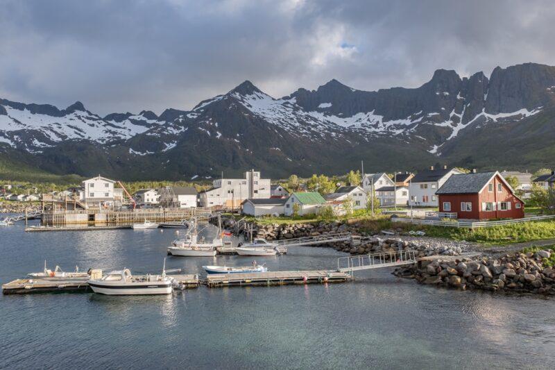 Medfjord Brygge, Senja, Norway.