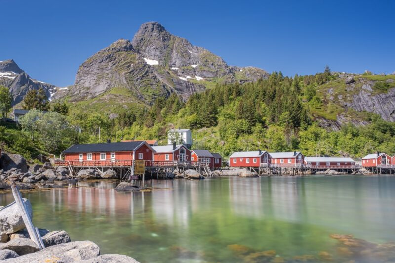 Abandoned fishing village Nusfjord.