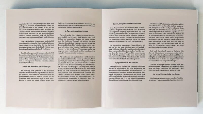 Ausbelichtete Musterseite Fotobuch.
