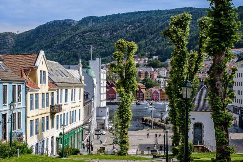 Historic wooden houses Bergen, Norway.