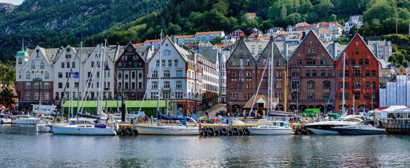 UNESCO Heritage Bryggen Bergen, the old wharf of Bergen.