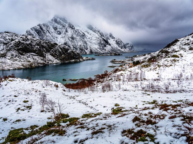 Winter at Mærvollspollen fjord