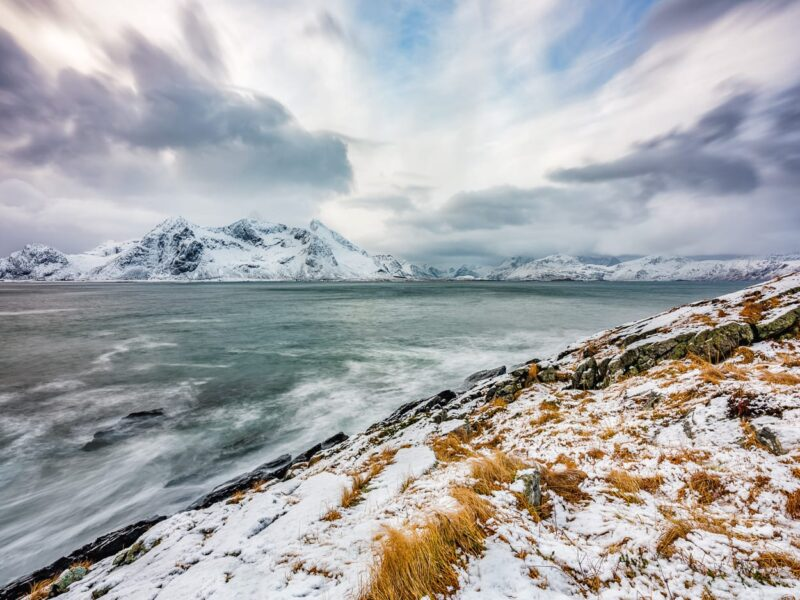 View over the stormy Vareidsundet II