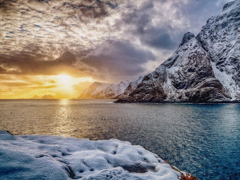 Sunset at Å Lofoten viewpoint