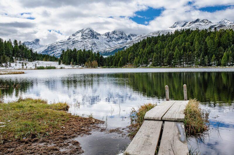 Am Stazersee bei St. Moritz, Oberengadin.