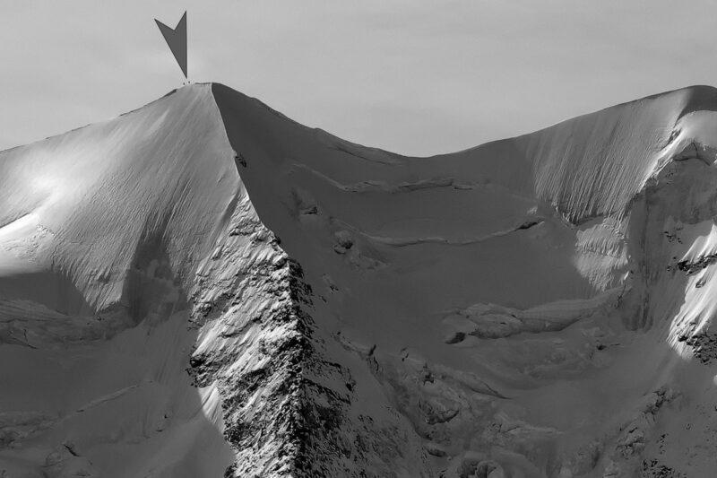 Bildqualität GF32-64mm, 2 Bergsteiger beim Ostgipfel Piz Palü, Oberengadin.